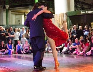 Performing at Borough Market